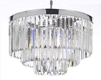 3 tier chandelier ceiling light palladium empress crystal tm glass fringe 3tier chandelier chandeliers lighting chrome finish