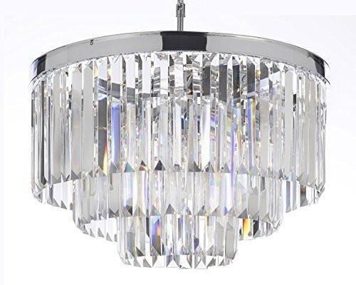 Palladium Empress Crystal ™ Glass Fringe 3-tier Chandelier Chandeliers Lighting Chrome Finish For Sale