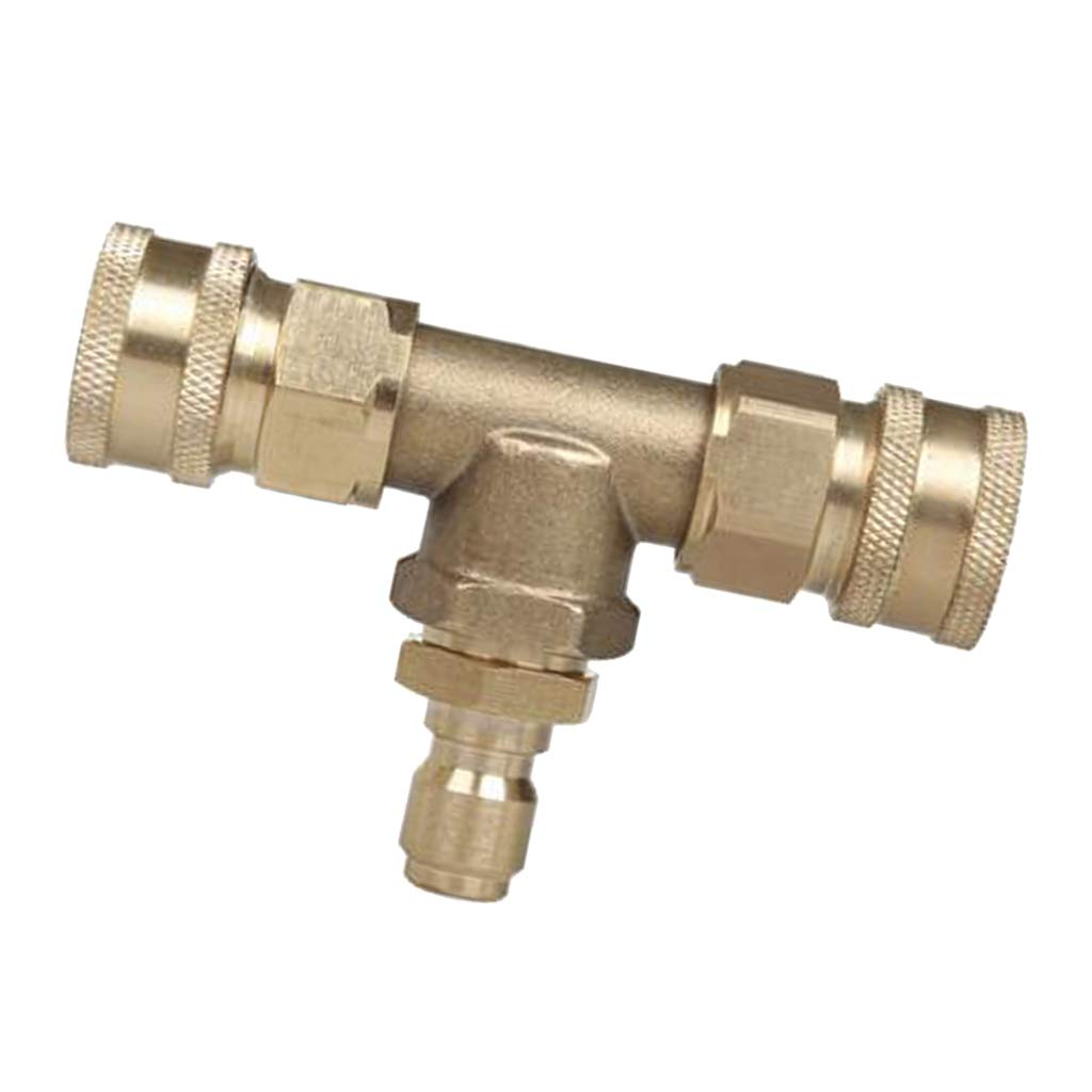 Flameer 1Piece Pipe Fitting Thread 3-Way T Shape Equal Tee Connector Coupling - 5