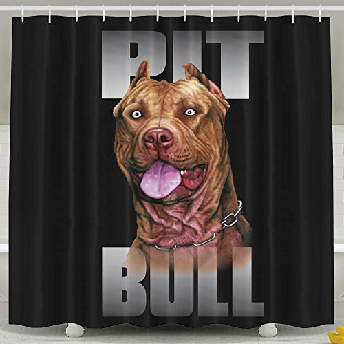 Washington State Shower Curtain (Shower Curtain Pitbull Dog Printing Anti Bacterial Waterproof Polyester Shower Curtain 6072inch Non Toxic Eco-Friendly No Chemical Odor Rust Proof Grommets)