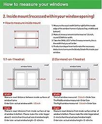 Custom Cut to Size , [Winsharp Basic , grey , W 23 x H 82 (Inch)] Horizontal Window Shade Blind Zebra Dual Roller Blinds & Treatments , Maximum 91 Inch Wide by 103 Inch Long