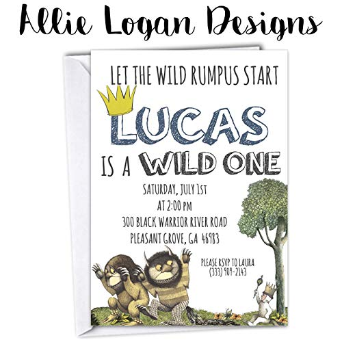 Where the Wild Things Are Birthday Invitation - First or All Ages -