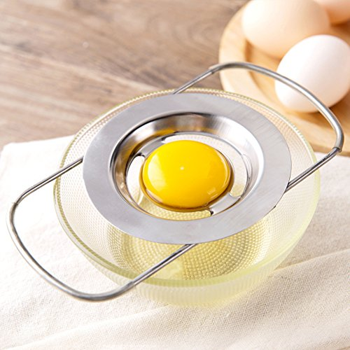 Eggs Egg Whites - DSWW Stainless Steel Egg Separator Telescopic Egg White Yolk Filter for Cooking Kitchen Gadget