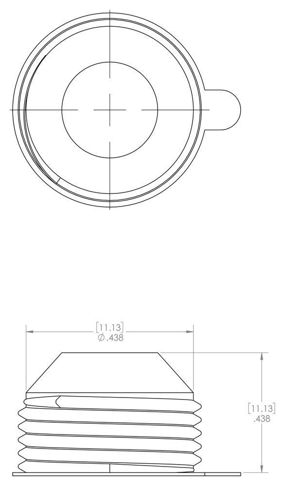 Caplugs Masking Temperature Resistant Flexible External Threaded