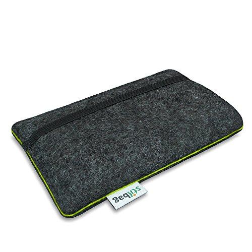 Stilbag Filztasche 'FINN' für Apple iPhone 6 plus- Farbe: anthrazit/apfelgrün