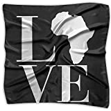 Love Africa Men Women Silky Scarf Handkerchief Bandana Wrap Scarf