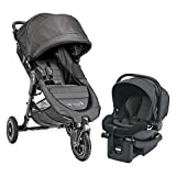 Versatile Compact Design Outdoor Baby Jogger City Mini GT Travel System , Easy Installs, Convenient for Travel. Ideal for Babies up to 2 years of age in Charcoal