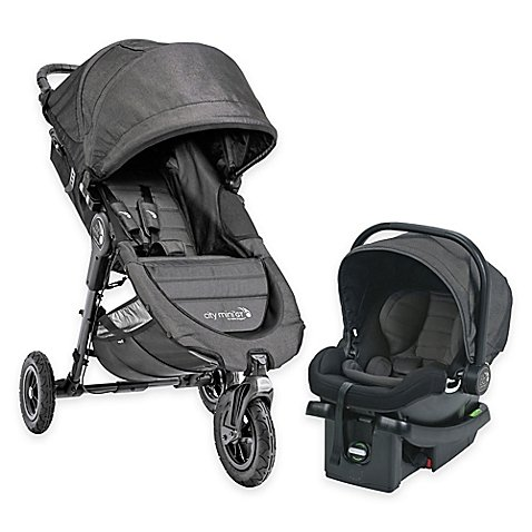 Versatile Compact Design Outdoor Baby Jogger City Mini GT Travel System , Easy Installs, Convenient for Travel. Ideal for Babies up to 2 years of age in Charcoal by Baby Jogger