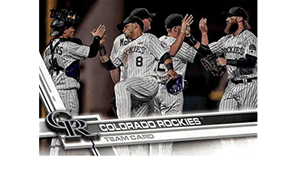 6ea2b14cc68bc Amazon.com: Colorado Rockies 2017 Topps Complete Mint Hand Collated ...