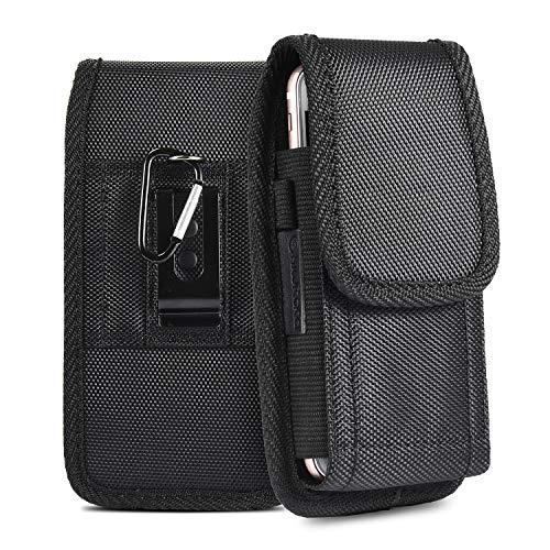 iPhone 8 7 6S Belt Pouch Case, kiwitatá Rugged Duty Nylon Belt Clip Holster Case for iPhone 7 6S(Fits Phone with Slim Case On) - Nylon Carry Case
