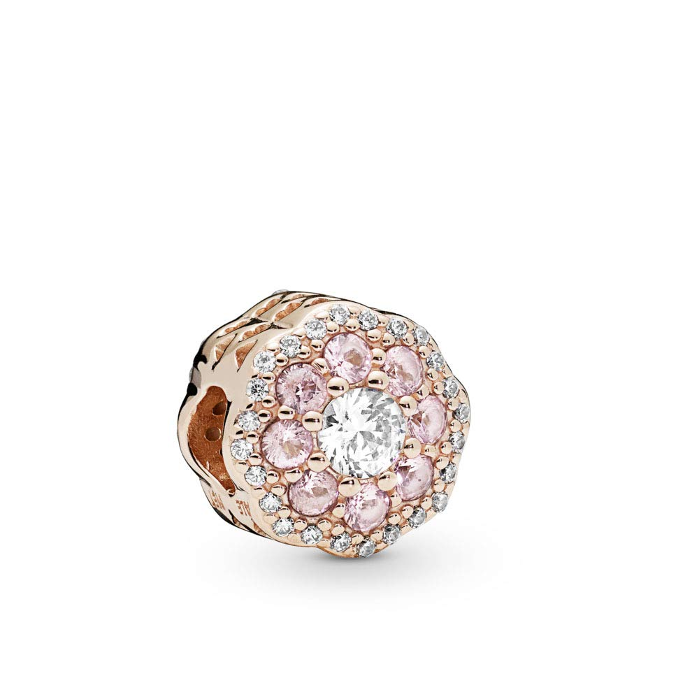 PANDORA Pink Sparkle Flower PANDORA Rose Charm - 787851NPM
