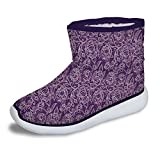 FOR U DESIGNS Winter Warm Floral Short Boots Shoes Size 3 Best Gift for Kids