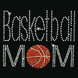 Iron on Hot Fix Rhinestone Motif Design Basketball Mom