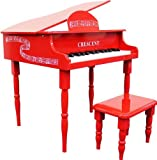 Crescent 30 Keys Red Toy Grand Piano with Bench