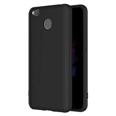 huge selection of 4bc0e 95f37 Xiaomi Redmi 4X Case, AICEK Black Silicone Cover for Xiaomi Redmi 4X ...