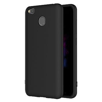 AICEK Funda Xiaomi Redmi 4X, Negro Silicona Fundas para Redmi 4X Carcasa Xiaomi Redmi 4X Negro Silicona Funda Case