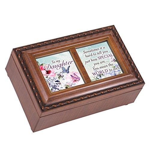 (Cottage Garden Daughter You Mean World Woodgrain Rope Trim Petite Music Box Plays Wonderful World)