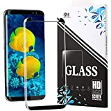 CaRany Galaxy S8 Screen Protector,S8 Tempered Glass,Anti-Bubble Ultra Clear[Case Friendly] Glass Screen Protector for Samsung Galaxy S8-Black