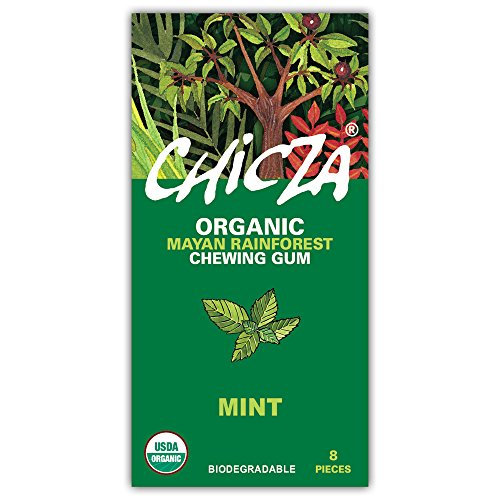 Chicza: Organic Rainforest Chewing Gum - 10 Packs (80 pieces) -