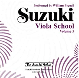 Amazon com: Suzuki Viola School, Vol  5 (0029156606935