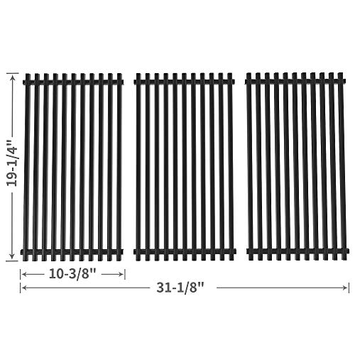SHINESTAR 19-1/4 inch Grill Grate Replacement for Brinkmann, Charmglow, Jenn-Air 720-0337, Nexgrill 720-0432, Perfect Flame 720-0522, Kenmore, Kirkland, Porcelain Steel BBQ Cooking Grid(SS-KW003) by SHINESTAR