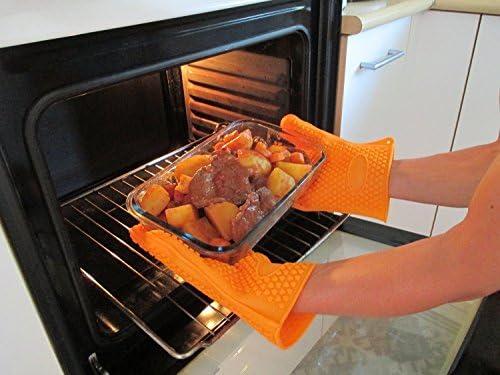 Amazon.com: MGE Chef – Guantes de cocina resistentes al ...