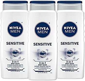 Nivea 3-Pack of 16.9 fl. oz Men Sensitive 3-in-1 Body Wash