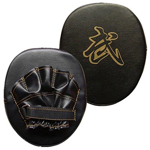 Punch Mitts, Boxing Pads, ADiPROD (1 Pair) Training Focus Target Punch Pad Glove Mitt MMA Karate Combat Thai Kick (Black+Gold)
