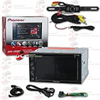 2017 Pioneer 2-DIN Car 6.2 Touchscreen Double DIN Multimedia AM/FM DVD MP3 CD Receiver with Bluetooth + DCO Back-up Water Proof and Night Vision Camera