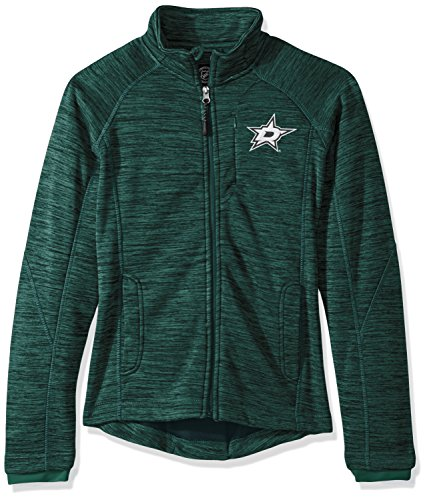 GIII For Her NHL Dallas Stars Women's Hand Off Full Zip Jacket, Large, Green