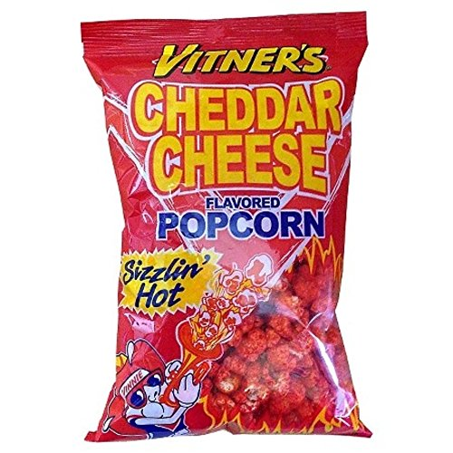 Hot Cheese Popcorn - Vitner's Cheddar Cheese Sizzlin Hot Popcorn (3-2.3 Bags)