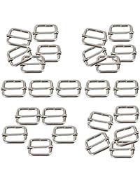 50 Pcs 1 Inch Metal Adjustable Slide Buckle Strap Triglides Slides for Making Handbag, Backpack, Luggage Bag