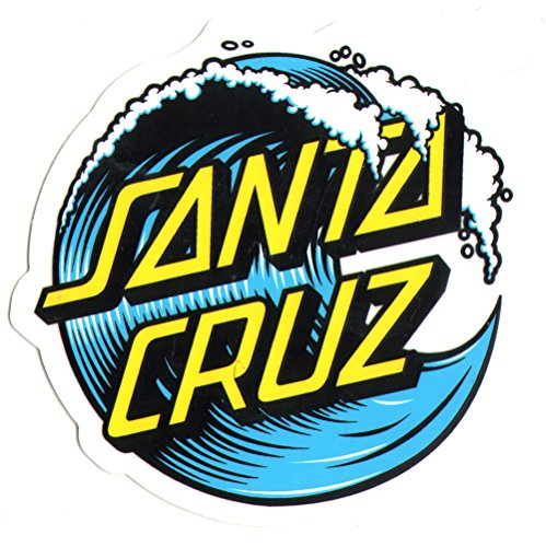 Santa Cruz Skateboard / Surf Sticker - waves surfing skating skate board water small (Santa Water)
