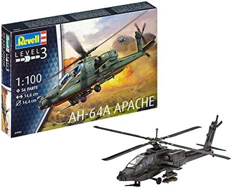 ドイツレベル 1/100 アメリカ陸軍 AH-64A アパッチ プラモデル 04985
