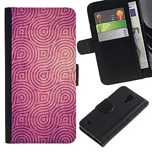 For SAMSUNG Galaxy S4 IV / i9500 / i9515 / i9505G / SGH-i337,S-type® Engraved Pattern Brown Black - Dibujo PU billetera de cuero Funda Case Caso de la piel de la bolsa protectora