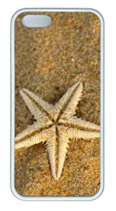 Beach Starfish TPU White custom iphone 5 cases for Apple iPhone 5/5S