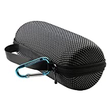 Pushingbest Hard Carrying Case Travel Bag for JBL Charge 2 Charge 2+ Pulse Speaker Solid Polyester Fabrics + EVA Carabiner Offered Black