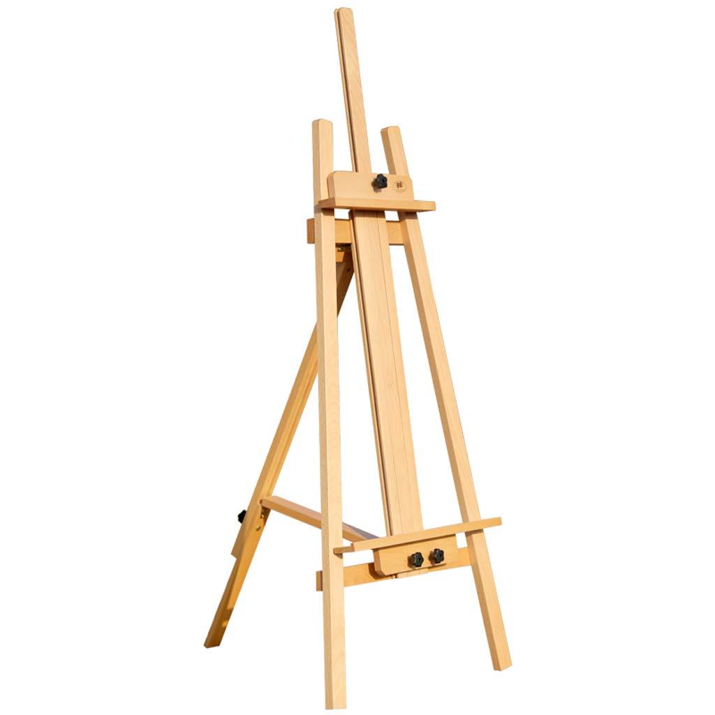 HBJP 屋内および屋外の大人の使用のために適した純木のイーゼル、調節可能なマルチアングル、高さ1.45m、ブナの木の生産 イーゼル   B07RLJYGPG