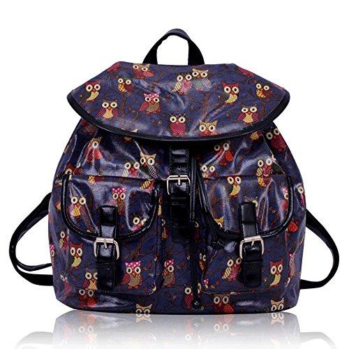 TrendStar - Bolso mochila  para mujer rojo E - Red E - Navy