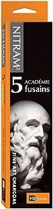 Nitram Academie Fusains Fine Art Charcoal HB Box of 5