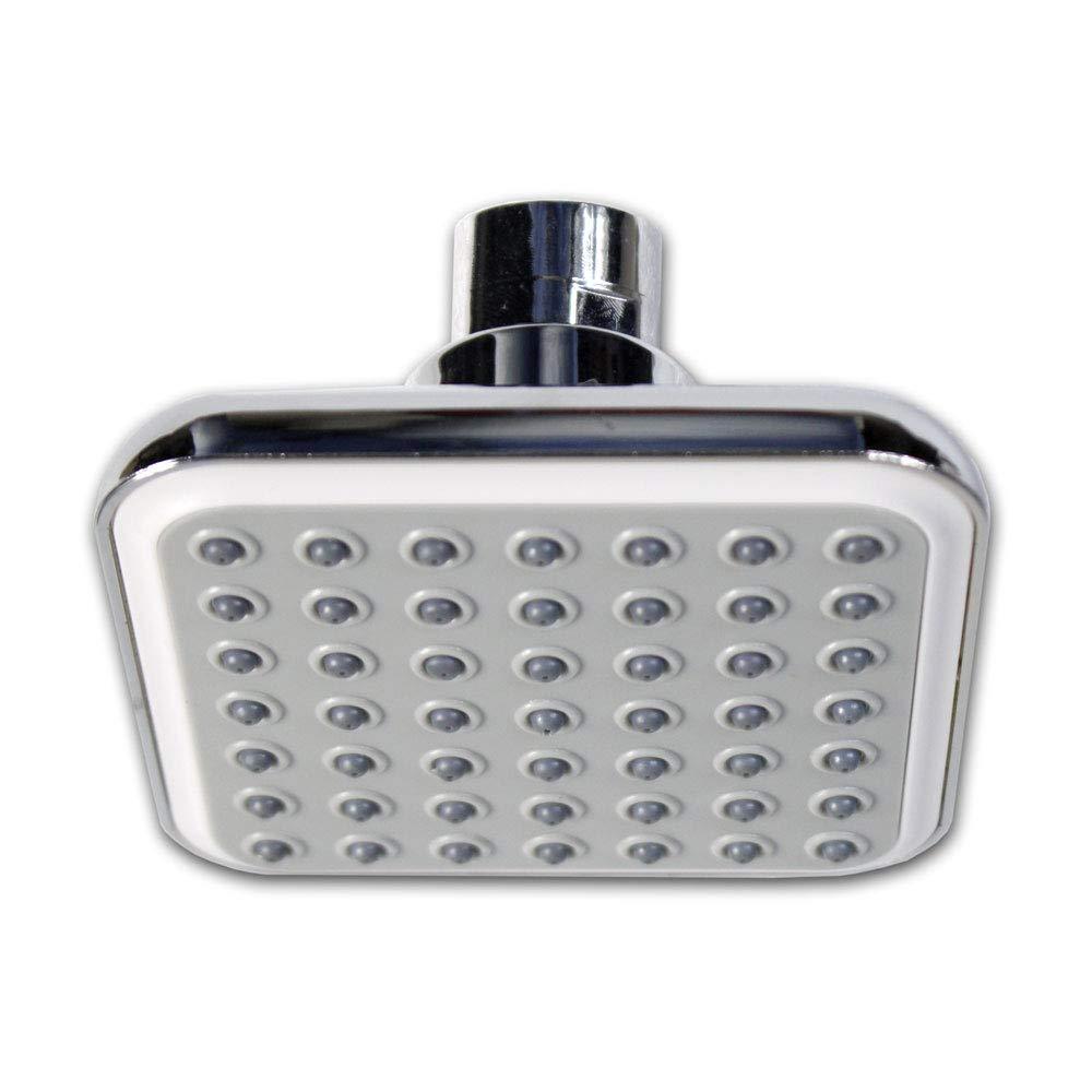 Vetrineinrete® Soffione per doccia da bagno quadrato in abs doccetta con filtro anticalcare ad alta pressione grigio F20 Vetrine in rete®