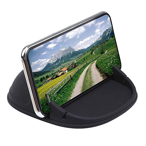 - Car Phone Holder, Staont Car Phone Mount No Glue Silicone Dashboard Car Pad Compatible with iPhone, Samsung, Android Smart Phones, GPS, KGs3 and More