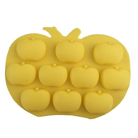 Chytaii Molde Cocina Moldes Plastilina Molde de Silicona Para Pasteles Forma de Manzana para Cupcakes Gelatinas