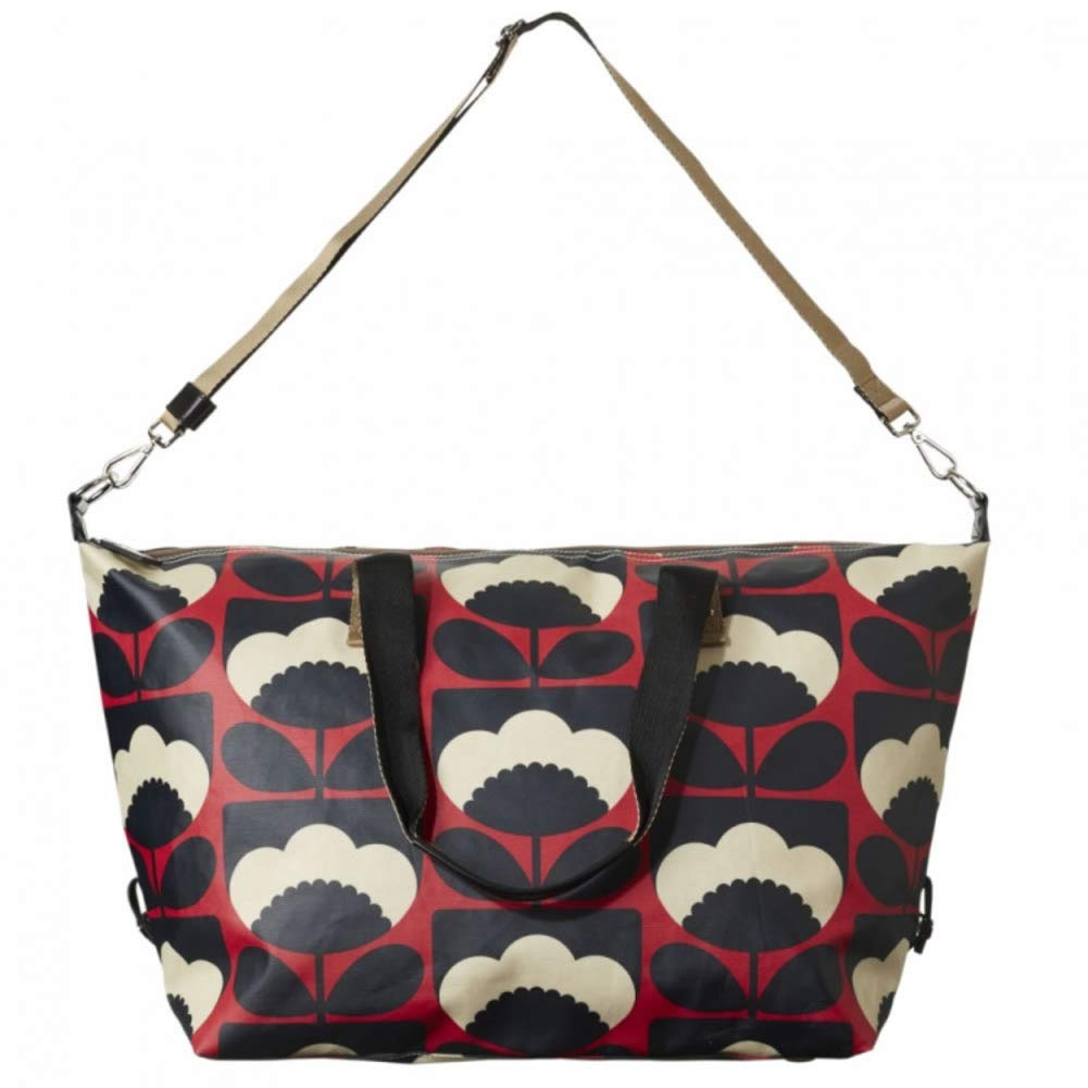 Ruby red Orla Kiely Spring Bloom Vinyl Classic Zip Shoulder Bag