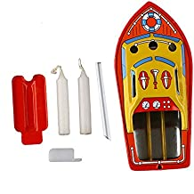 Unetox Vintage Pop-pop Boat Steam Powerd Collectable Toy Boat Educational Recycle Retro Tin Boat Toy Gift
