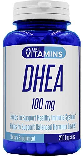 DHEA 100mg 200 capsules - Best Value 200 Day Supply of DHEA Capsules