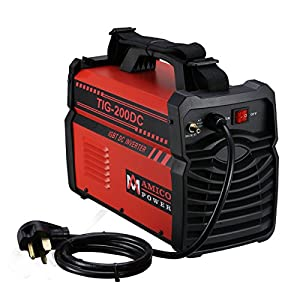 TIG-200 Amp TIG Torch, Stick ARC DC Inverter Welder, 110V & 230V Dual Voltage Welding by Amico Power