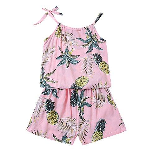 ZHUANNIAN Baby Toddler Girls Shorts Set 2PCS Cami Tops and Pants Summer Boho Outfits (Pink, 12-18 Months)]()
