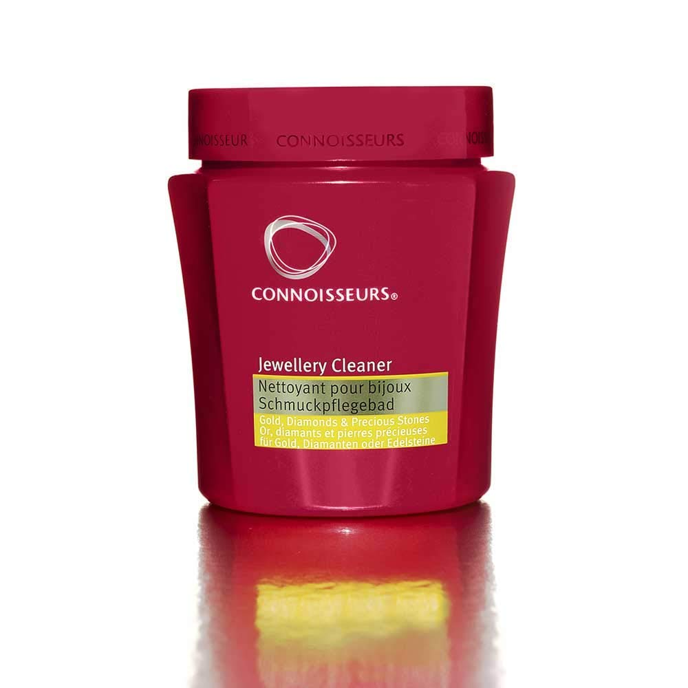 Connoisseurs Jewellery Cleaning Bath - Liquid Cleaner Solution for Gold, Diamonds, Platinum & Precious Stones - Dip Tray & Brush Included - 250ml