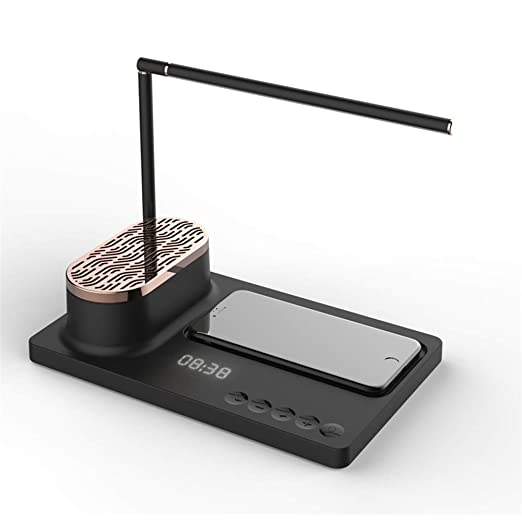 Lámpara De Mesa De Audio Bluetooth, Cargador Inalámbrico De ...